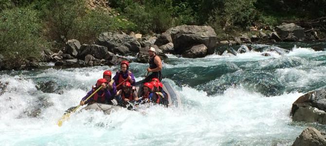 Le rafting de deux jours sur la Tara